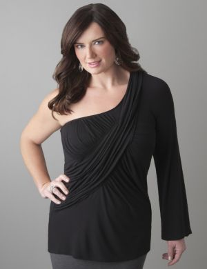 Draped one shoulder top