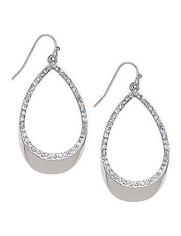 Cubic zirconium teardrop earrings by Lane Bryant
