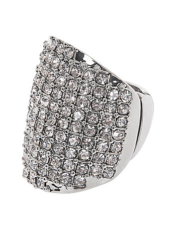Crystal statement ring by Lane Bryant