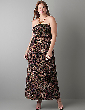 Animal print maxi dress by Lane Bryant