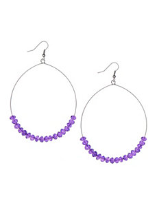 Wire hoop and bead earrings by Lane Bryant