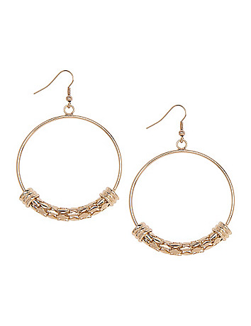 Snake chain hoop earrings by Lane Bryant