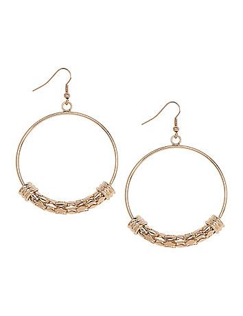 Snake chain hoop earrings by Lane Bryant