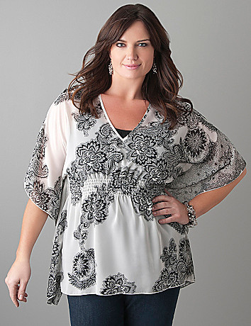 Plus Size Drama Sleeve Layering Top