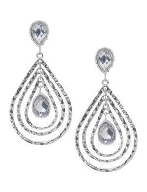 Nested teardrop button earrings by Lane Bryant
