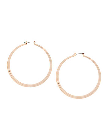 Tubular hoop earrings by Lane Bryant