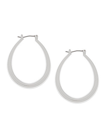 Mini tube teardrop earrings by Lane Bryant