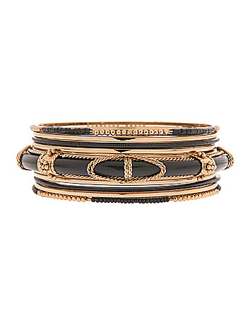 9 row bangle bracelet set by Lane Bryant
