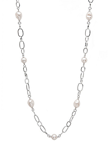 Pearl and chain necklace by Lane Bryant