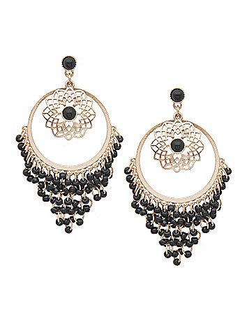 Button chandelier earrings by Lane Bryant