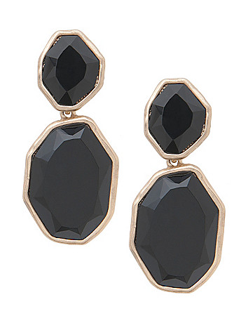 Faceted button stone earrings by Lane Bryant