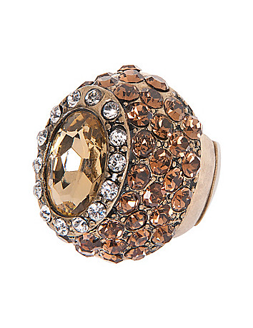 Faux topaz dome ring by Lane Bryant