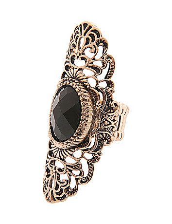 Filigree oval stretch ring by Lane Bryant