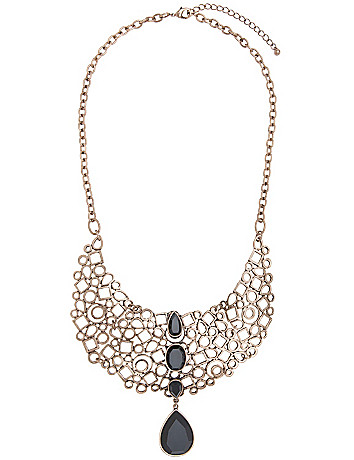 Geometric filigree necklace by Lane Bryant