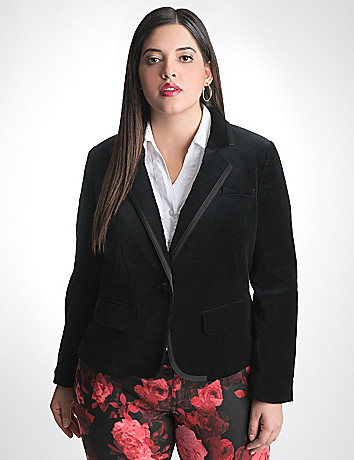 Full Figure Velvet Blazer by Lane Bryant