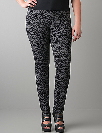 Plus Size leopard jegging by Lane Bryant