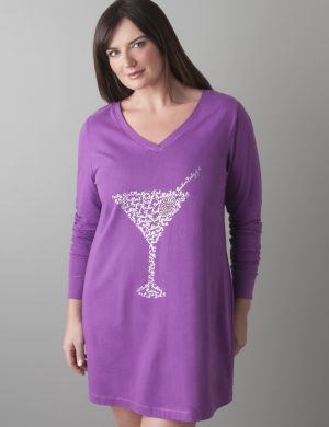Martini long sleeve sleep shirt