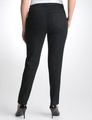 Studded black skinny jean