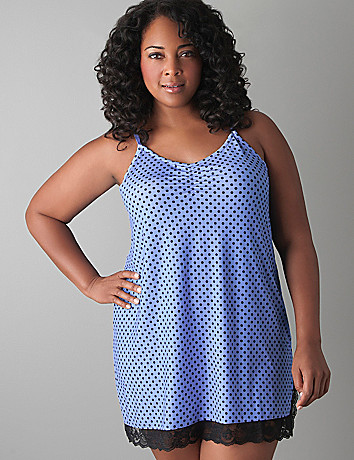 Polka dot chemise by Cacique
