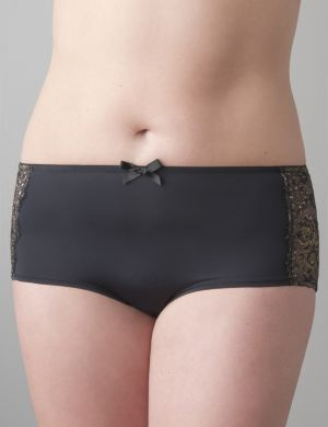 Metallic lace boyshort panty