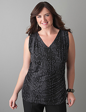 Plus Size Surplice Tank by Lane Bryant