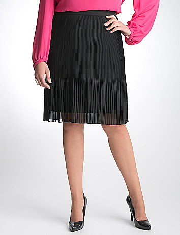 Plus Size Pleated Chiffon Skirt by Lane Bryant