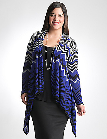 Plus Size Chevron Cardigan by Lane Bryant