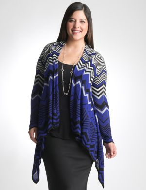 Chevron flame stitch cardigan