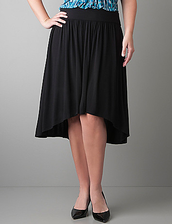 High low knit skirt by Lane Bryant