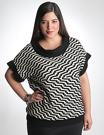 Plus Size wedge sweater by Lane Bryant