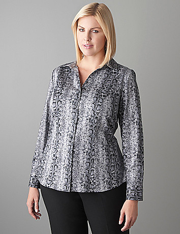Plus Size Snake Print Shirt by Lane Bryant