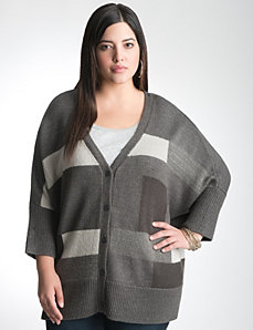 Plus Size Boxy Cardigan by Lane Bryant