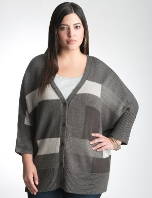 Colorblock boxy cardigan