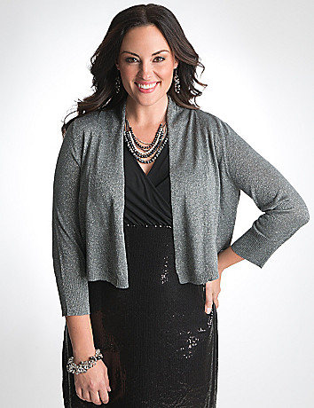 Plus Size Shimmer Shrug by Lane Bryant