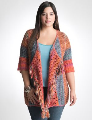 Fringed rainbow cardigan