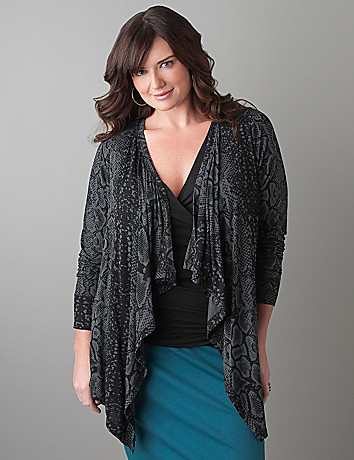 Plus Size Python Knit Overpiece