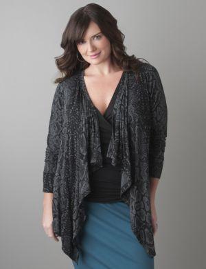 Python print knit cardigan