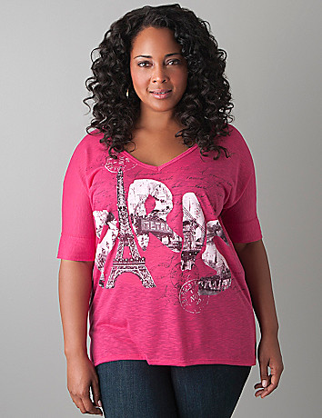 Plus Size High Low Graphic Tee by Lane Bryant