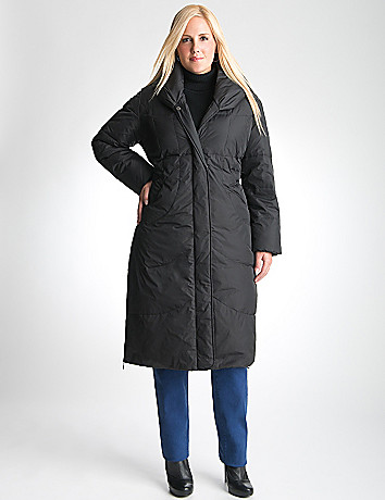 Full Figure Long Puffer Coat by Lane Bryant