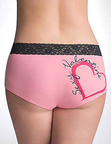 Plus Size Graphic Cotton Boyshort Panty by Cacique