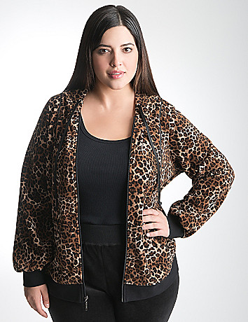 Plus Size Animal Print Hoodie by Lane Bryant