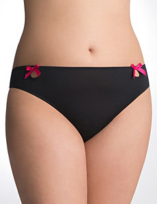Plus Size Feather puff thong panty by Cacique