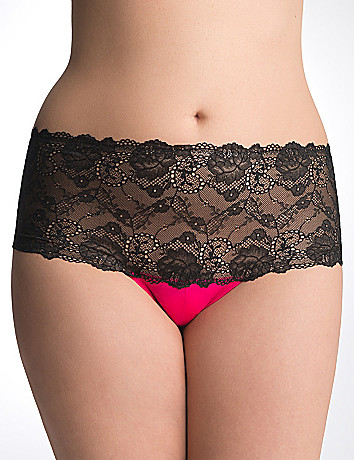 Plus Size Crotchless Panty by Cacique