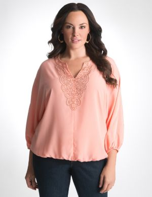 Beaded peasant blouse