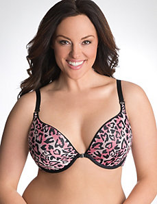 Solid & animal print reversible plunge bra by Cacique