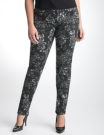 Plus Size Print Skinny Jean by Lane Bryant