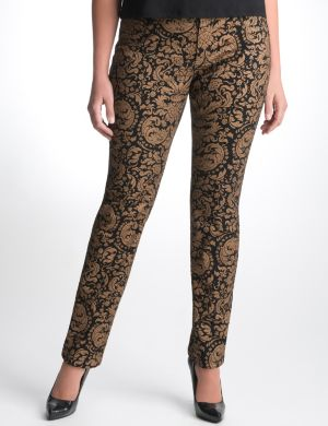 Gold baroque skinny jean by Seven7
