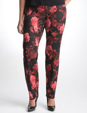 Rose print skinny jean by Seven7