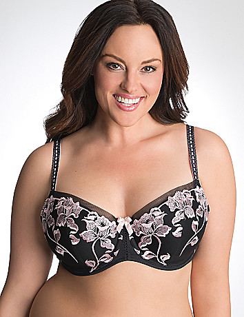 Floral embroidered balconette bra by Cacique