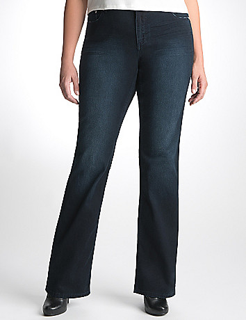 Plus Size Sateen Slim Boot Jean by Seven7
